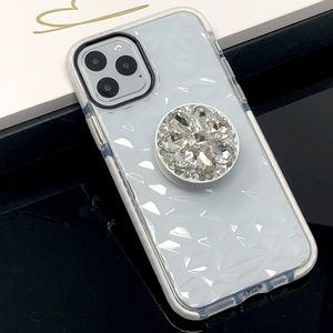 Accessories - iPhone Clear Case w/Bling Pop Grip